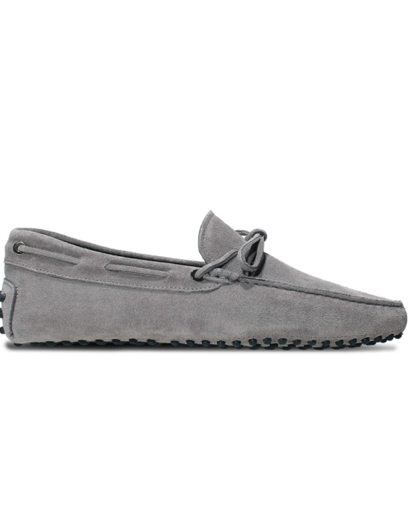 mens grey suede driving shoe loafers chelsea slip ons london loafers 1