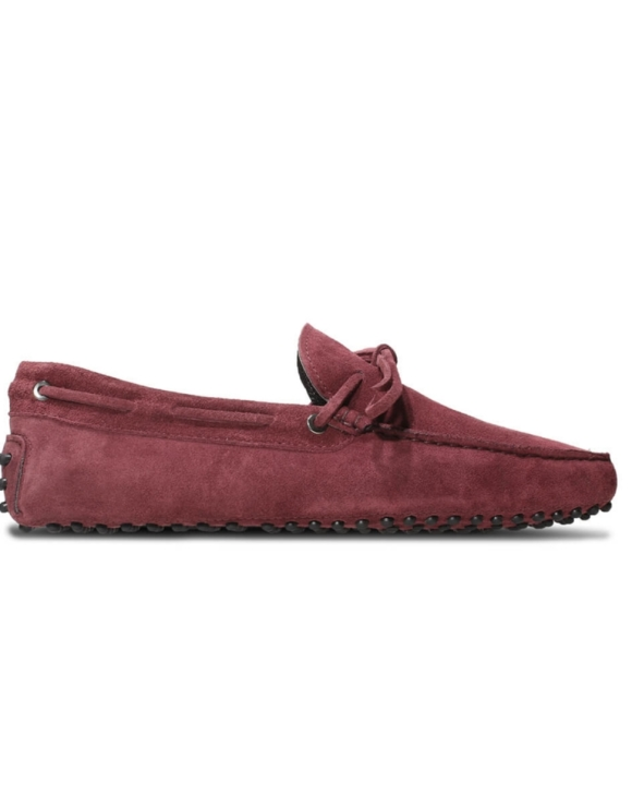 mens burgundy suede driving shoe loafers chelsea slip ons london loafers 1