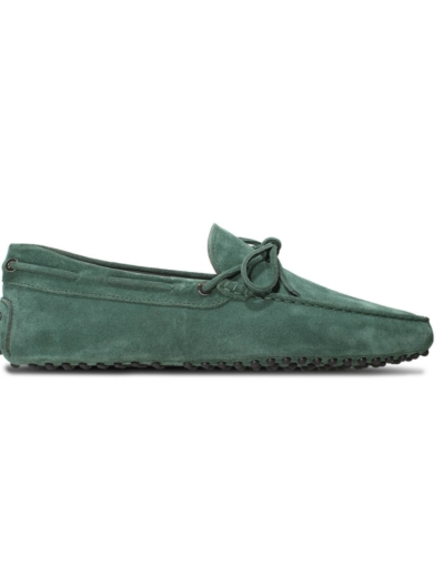 mens green suede driving shoe loafers chelsea slip ons london loafers 4