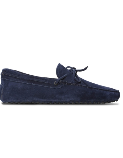 mens navy suede driving shoe loafers chelsea slip ons london loafers 2