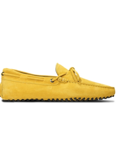 mens yellow suede driving shoe loafers chelsea slip ons london loafers 3
