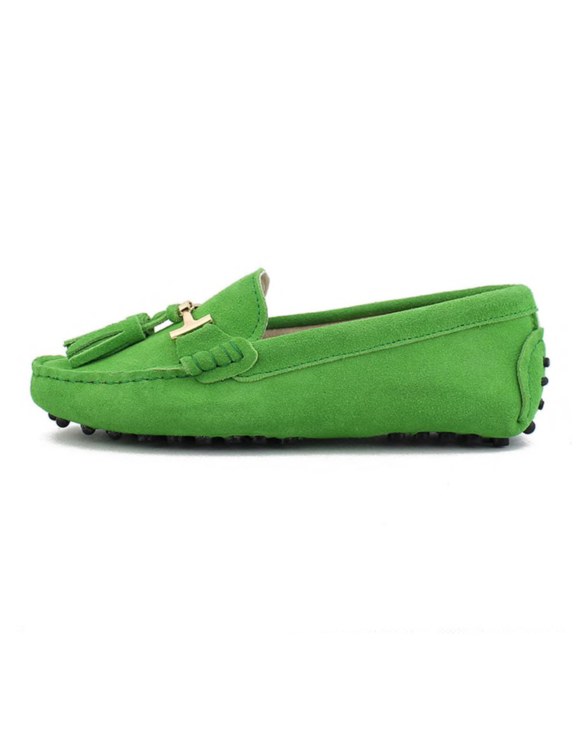 myloafers womens tassel driving shoes bright green