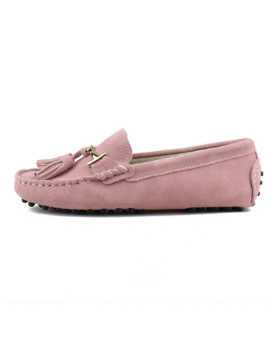 myloafers womens tassel driving shoes dusty pink