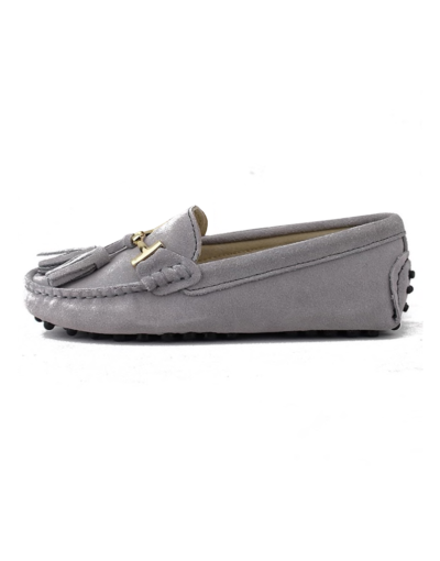myloafers womens tassel driving shoes grey