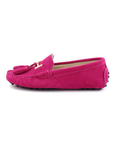myloafers womens tassel driving shoes hot pink