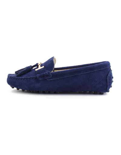 myloafers womens tassel driving shoes navy