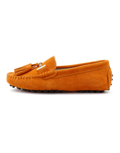 myloafers womens tassel driving shoes orange 1