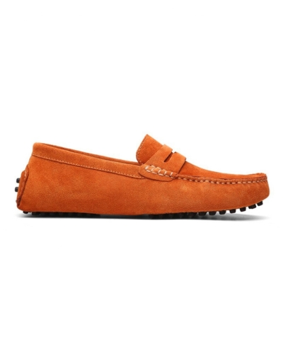 loafer penny mens orange