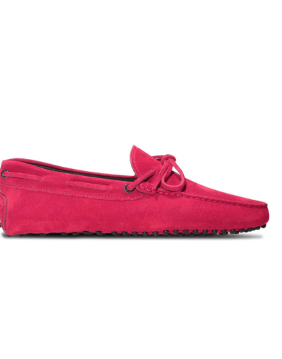 mens driving shoes moccasin loafers - myloafers hot pink