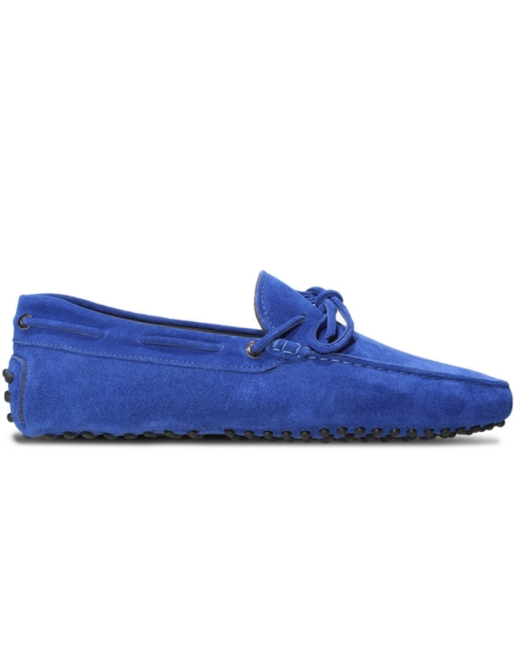 mens royal blue suede driving shoe loafers chelsea slip ons london loafers 4