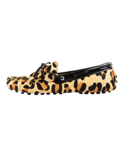 myloafers womens animal print pony hair driving shoes leopard print