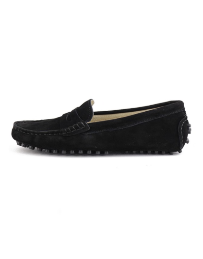 myloafers womens moccasin driving shoes penny loafers black
