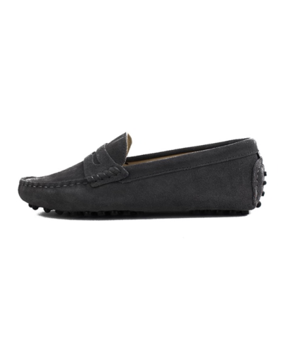 myloafers womens moccasin driving shoes penny loafers dark grey