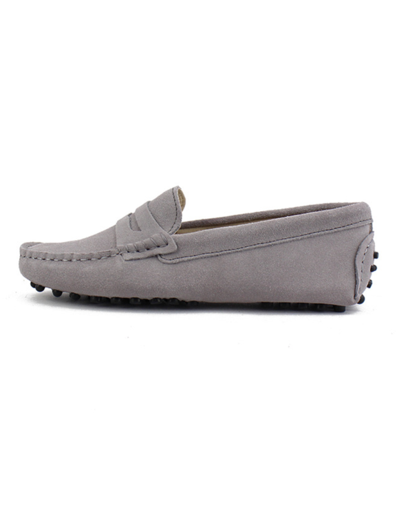 myloafers womens moccasin driving shoes penny loafers grey