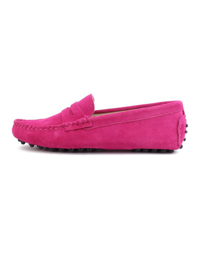 myloafers womens moccasin driving shoes penny loafers hot pink