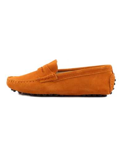 myloafers womens moccasin driving shoes penny loafers orange