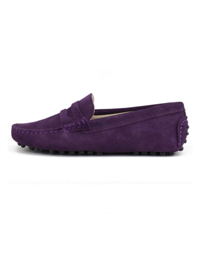 myloafers womens moccasin driving shoes penny loafers purple