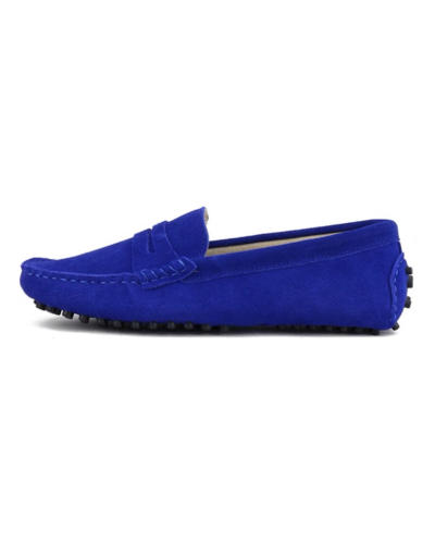 myloafers womens moccasin driving shoes penny loafers royal blue