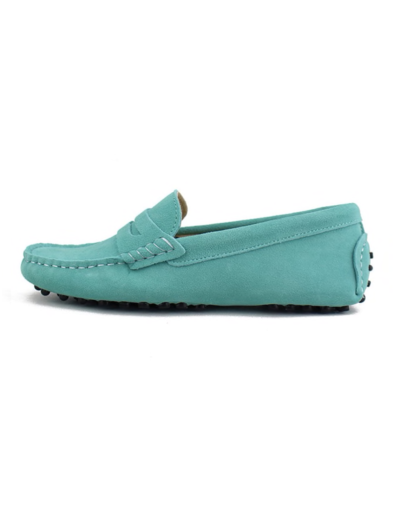 myloafers womens moccasin driving shoes penny loafers turquoise