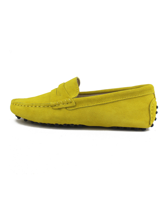 myloafers womens moccasin driving shoes penny loafers yellow